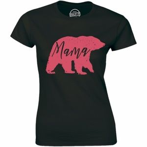 Big Pink Mama Bear Mother's Day Gift Idea T-shirt